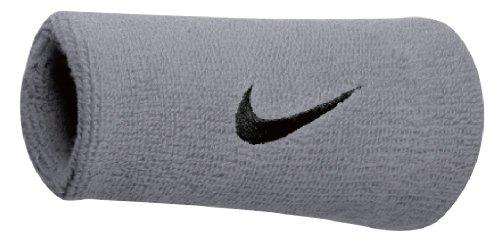 Nike Swoosh - Polsino Doppio, Unisex, N.NN.05.078.OS, Matte Silver/Black, Taglia Unica (Uomo)