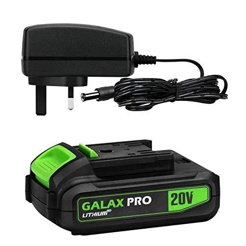 GALAX PRO Akkuschrauber 12V mit LED Licht 2 Gang 17+1 Drehmomentstufen Drehmoment: 25Nm 1300 mAh Max Akku-Bohrschrauber 5tlg Zubeh/ör abnehmbares Bohrfutter