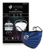 【Super Trendy】: Support your favourite team with this super trendy mask with Advance 3 layers Protection 【Extremely Comfortable with Adjustable Ear Loops】: Highly Quality Elastic doesnot hurt ear even if you wear it for prolonged duration and It's ea...