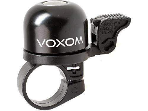 Voxom Fahrradklingel Kl1 Klingel, Schwarz, Durchmesser 30 mm