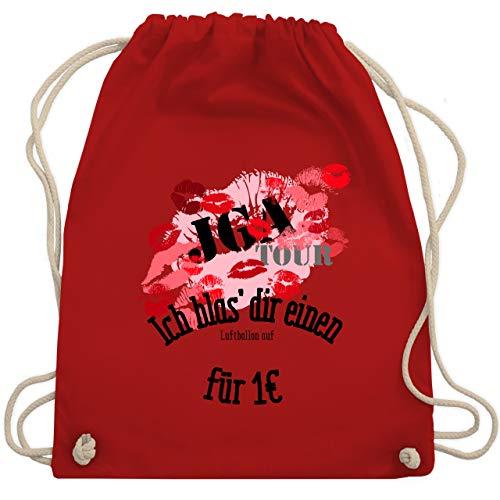 Shirtracer JGA Junggesellenabschied Frauen - JGA Tour - Ich blas dir einen Luftballon auf - Unisize - Rot - jga turnbeutel blasen - WM110 - Turnbeutel und Stoffbeutel aus Baumwolle