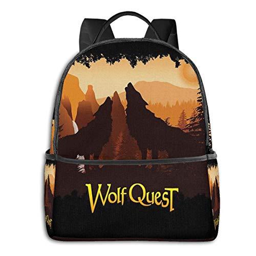 Hdadwy Tower Fall Howl - Wolfquest Dream Mochila Unisex Mochila de Uso Diario para la Escuela Mochila Ligera de Viaje Informal para Acampar al Aire Libre