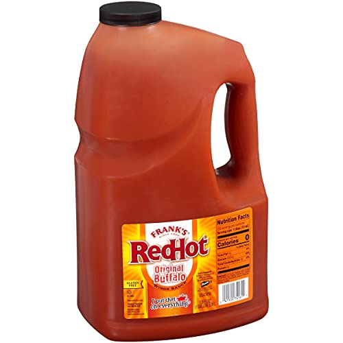 Frank's RedHot Original Buffalo Wings Sauce, 1 gal - 1 Gallon Bulk Container of Buffalo Hot Sauce with a Bold, Spicy Flavor Perfect for Wings, Dressings, Dips and More