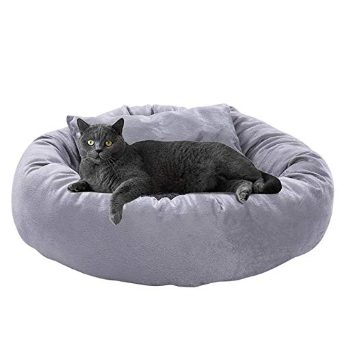 JIEJIU Pet Bed Cat Winter Bed Comfortable Warm Cama Para Gato Pet Cat Dog House Kennel Puppy Cave Sleeping Bed Pet Bed For Cats, Gray,Xl