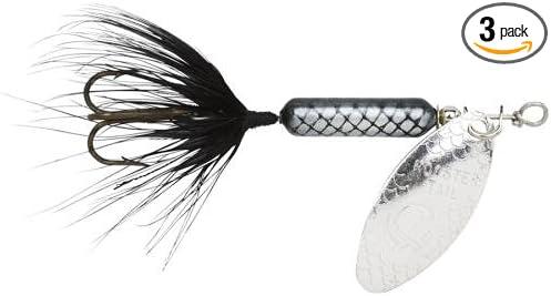 Yakima Bait Wordens Original Rooster Tail 1/16oz Spinner Lure, 3 Pack- Black