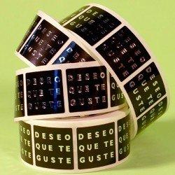ETIQUETA ADHESIVA\DESEO QUE TE GUSTE\(500U)30X30MM