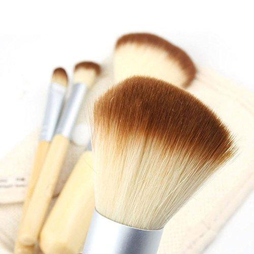 XUAN 4 PCs maquillage pinceau peinture de poignée set fard à paupières vert bambou