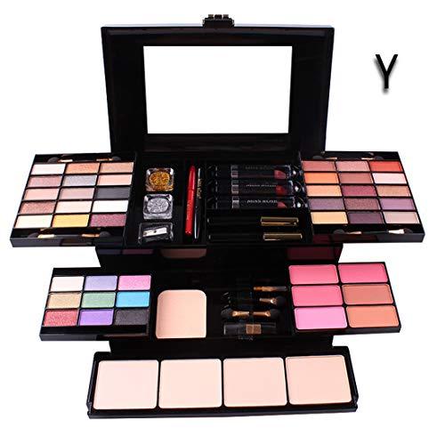 UCANBE BELLE Maquillage Coffret Professional 39 Couleurs de Fard à paupières Make Up Sets Lip Gloss de Teint en Poudre Kit Maquillage De Maquiagem Cosmétiques,Y