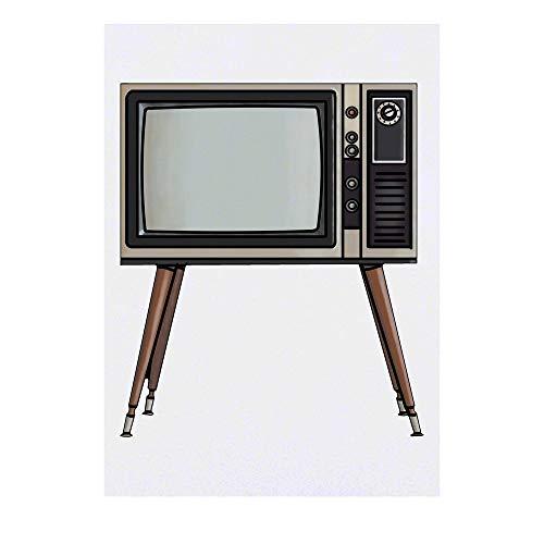 Azeeda Grand 'Rétro TV' Tatouages temporaires (TO00035782)