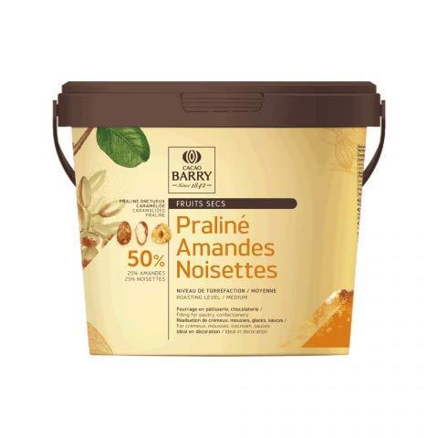 Praliné - Almendra y avellanas 50%, 25% almendras, 25% avellanas, bote de 1 kg
