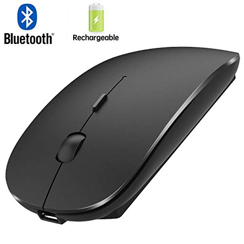 Bluetooth Mouse,Wireless Mouse for MacBook pro/MacBook air,Rechargeable Bluetooth Mouse for ipad MacBook Air Laptop Notebook MacBook Windows (Black)