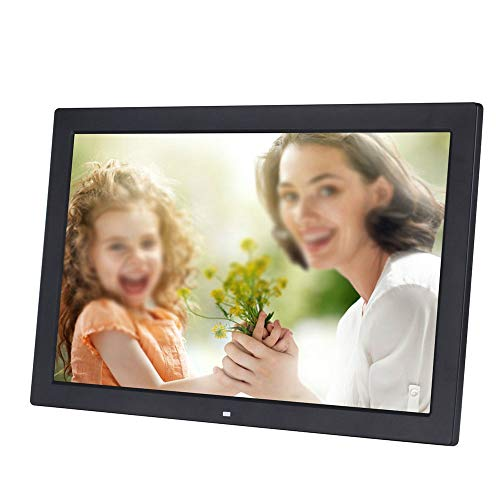 Rnwen Electronic Album 19 Inch Digital Photo Frame 1366768 Pixels High Resolution LED Screen 1080P HD Video Playback USB and SD Card Slots Digital Picture Frames (Color : Black, Size : 19inch)