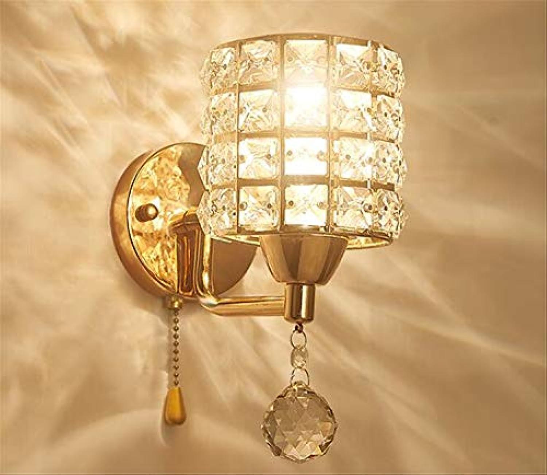 NUO-Z Moderne Wandleuchte Licht, Kristall Anhnger Dekoration Wandleuchte mit Zugseil für Schlafzimmer und Wohnzimmer