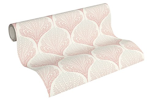 A.S. Création Vliestapete Palila Tapete elegant floral 10,05 m x 0,53 m beige rosa weiß Made in Germany 363104 36310-4