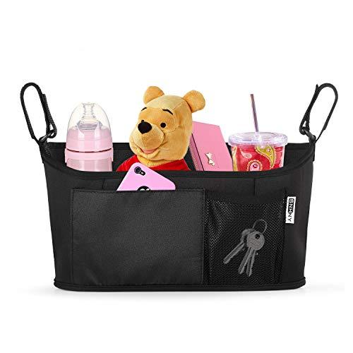 Superior Universal Cochecito Organizador por snhny; El mejor cochecito accesorios; Universal pañales para bebé cochecito con bolsa Accessary. Sencillo (Negro)
