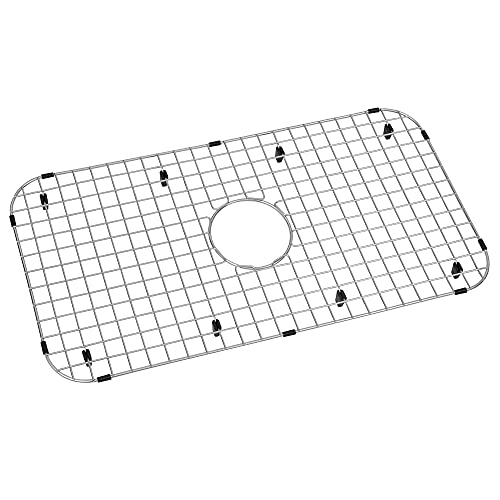 """Zeesink Kitchen Sink Protector,Stainless Steel Sink Grid Size 27 13/16"""" X 14 5/16"""",Sink Grate with Center Drain,Sink Bottom Grid for Single Bowl Kitchen Sink"""