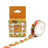 10M * 15Mm黄色うさぎ和紙マスキングテープ装飾スクラップブッキングオフィス粘着DIYステッカーラベルテープ