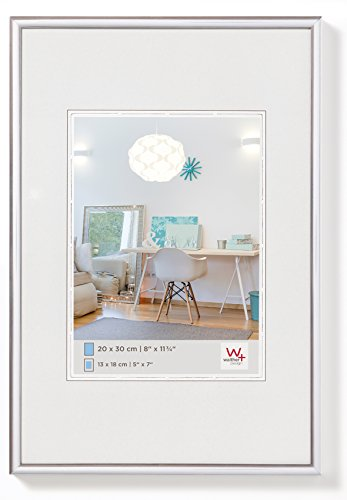 walther design KV070S New Lifestyle Kunststoffrahmen, 1 (50 x 70 cm), silber