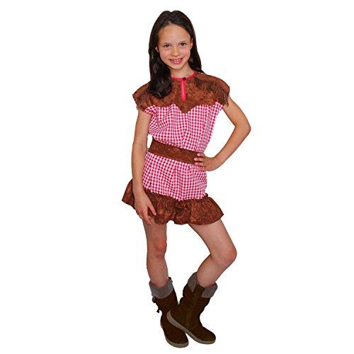 Krause & Sohn Kinder Kostüm Cowgirl Wyonna Western Mädchen Cowboy Fasching Karneval (128)