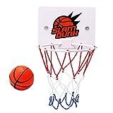 Yimixz Minicanasta de baloncesto para niños con ventosa, soporte de pared con bomba, juego de juguetes deportivos