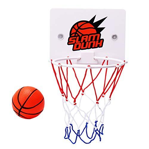 Basketballkorb Spielzeug, Büro Desktop Spiel Badezimmer Toilette Slam Dunk Gadget mit Pumpe und 2 Bällen für Basketballliebhaber Jungen Mädchen Indoor Outdoor