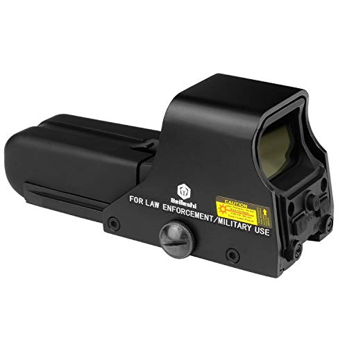 beileshi 552 Holographic Sight Red Green Point Visier/Dot Sight Scope, 10 Levels Brightness, 30x22mm Objective Lens Dia