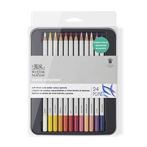 Winsor & Newton Acuarela, multicolor, 24 lápices
