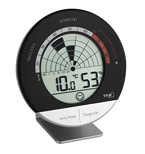TFA Dostmann Schimmel Radar digitales Thermo-Hygrometer, 30.5032, mit Warnsignal