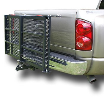 Trailer Hitch Cargo Carrier for Scooters, Lawn Mowers, Wheelchairs, More for Max 500lb; Car Mounted Scooter Ramp - Use as Wheelchair Lift for Hauling and Easy Transport; Wide Platform with Raised Edge