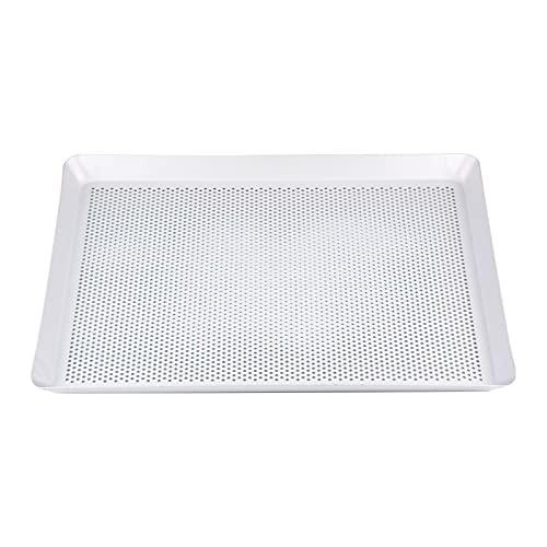 Bandeja rectangular de acero inoxidable para hornear pescado, bandeja de cocina, bandeja para tartas, bandeja de pan, herramientas para hornear (color: gris oscuro)