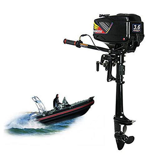 SENDERPICK 3.6PS Motor fueraborda de 2 Tiempos, Motor de Barco de Pesca fueraborda del Sistema de enfriamiento por Agua con Motor de Gasolina