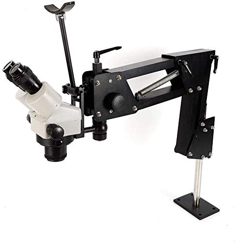 Microscope Jewelry Inlaid Stand Multi-Directional Microscope Binocular Stereo Zoom 7X-4.5X Micro Inlaid Mirror Spring Bracket for Micro-Setting Tools