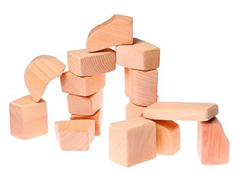 Grimms Spiel Und Holz Design Grimms 15 Waldorfklötze groß natur