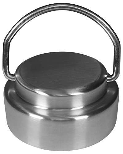 Stainless Steel Cap Lid Top with Flip Up Carry Handle for Hydro Flask Type Wide Mouth Bottles