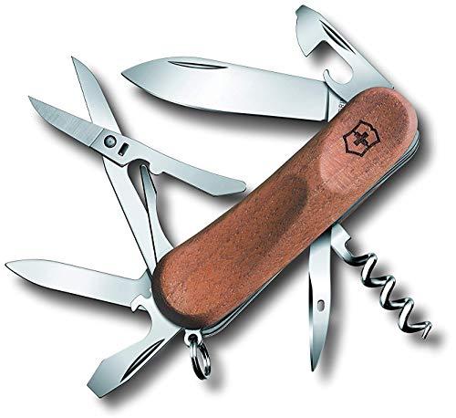 Victorinox Holz Taschenmesser Evolution Wood 14 (12 Funktionen, Schere, Korkenzieher, Nagelfeile)
