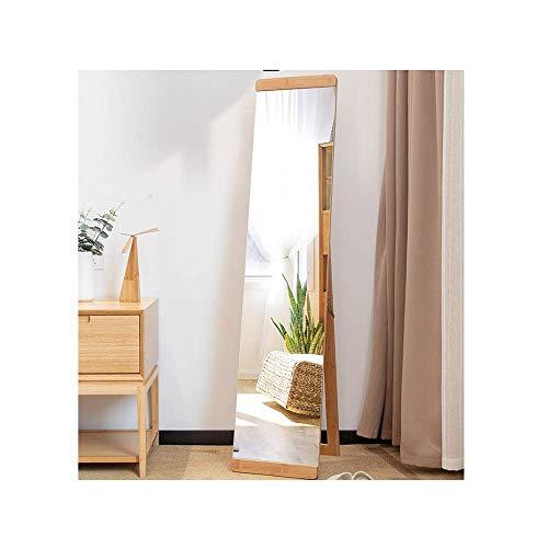 Montre de poche et bracelet Miroir de salle de bains 148X32cm, miroir mural rectangulaire, miroir de sol décoratif, salle de bains, dressing, chambre à coucher et salle de séjour (Couleur: Beige, Tail