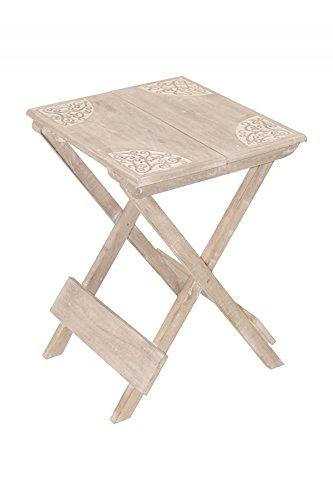 Marrakesch Orient & Mediterran Interior ® Vintage Landhaus Shabby chic Tisch Balkontisch Bistrotisch Burcu - 45cm - klappbar