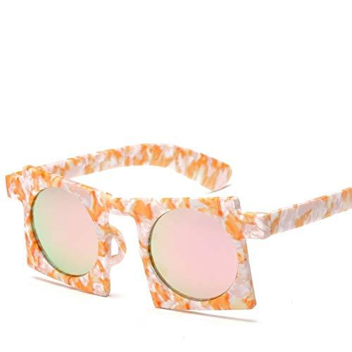 Quadratische Sonnenbrille Retro durchscheinende Brille Damen UV-Schutz Sonnenschutz Sonnenbrille-C3