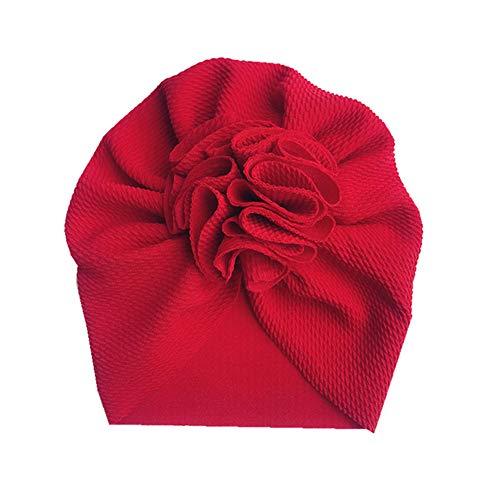 Geagodelia Turban Baby Mädchen Neugeboren Stirnband Haarband Knoten Mütze Sommer Stretch Schleife Headwear Kleinkind (Rot Turban, OneSize)