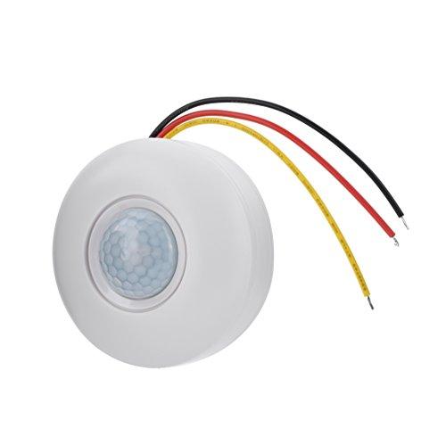 Nicoone Sensor ljus strömbrytare rörelsesensor strömbrytare med tid fördröjning för LED tak ljus