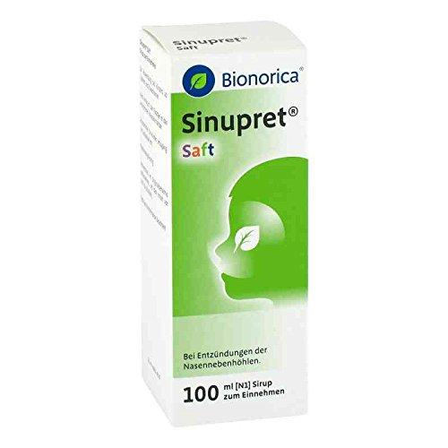 Sinupret Saft Spar-Set 2x100ml, wirkt schnell und zuverlässig gegen Symptome und Ursachen von Nasennebenhöhlenentzündung mit Schnupfen; zur Anwendung bei Erwachsenen und Kindern ab 2 Jahren