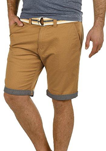 !Solid Lagos Herren Chino Shorts Bermuda Kurze Hose Mit Gürtel Aus Stretch-Material Regular Fit, Größe:XL, Farbe:Cinnamon (5056)