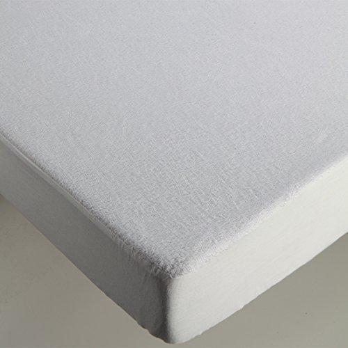 Burrito Blanco matrasbeschermer, waterdicht, badstof, wit cama 105x190/200 cm Regulable