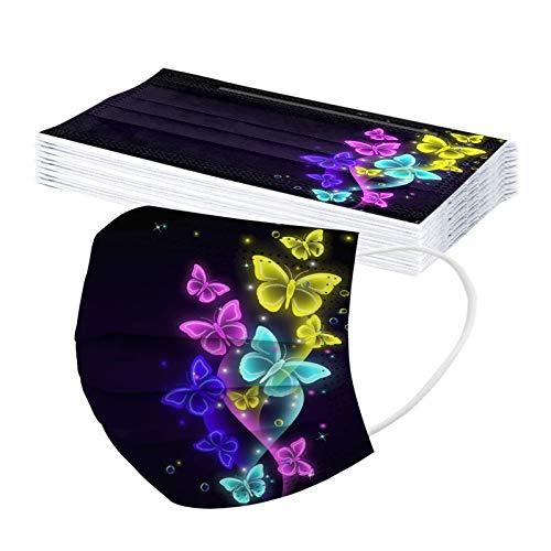 10/20/30/50/100pc Unisex Erwachsene Schmetterling Print Schal Universal Fashion 3 weiche Schicht süße elastische Earloop Schal -21123-9
