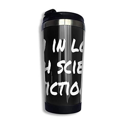 DJNGN I 'M In Love With Science Fiction Pullover Hoodie Coffee Travel Mug Cup Vaso aislado al vacío de acero inoxidable 13.5 Oz