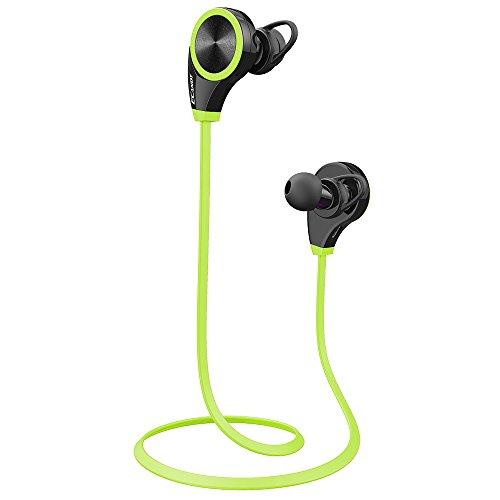 Ecandy - Auricolari Bluetooth 4.0Wireless Stereo sport/corsa e palestra/esercizi cuffie auricolari mani libere Bluetooth Headset con microfono per iPhone 65S...
