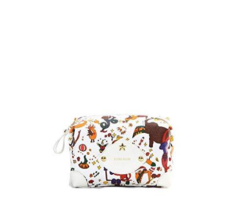 Piero Guidi Cosmetic Bag/Porta Necessaire, Magic Circus Bianco, 15x12x8 cm, 205F44030_98