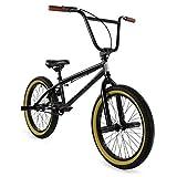 "Elite 20"" & 16' BMX Bicycle The Stealth Freestyle Bike (20' Black Gum)"