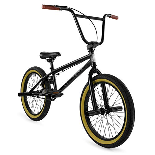 "Elite 20"" & 16' BMX Bicycle The Stealth Freestyle Bike (20' Black Gum)"
