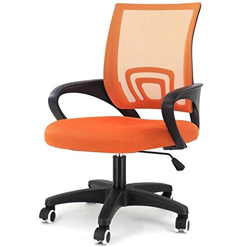 MXCYSJX Silla de Escritorio para Oficina Silla giratoria ergonómica Naranja Silla ejecutiva de Malla Ajustable